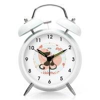 Kids Desk Alarm Clock Movement Light Display Dashboard Sveglia Da Comodino Modern Table Silent Luminous Alarm Clocks 603097