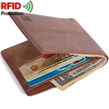 New RFID Fashion Men Wallets Small Wallet Men Money Purse Coin Bag Short Male Wallet Card Holder Slim Coin Purse Big Capacity noenname handmade fashion flower embroidery design purse high capacity women card coin wallet national style ladys bag
