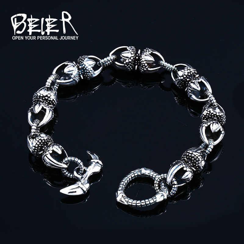 BEIER bransoletki męskie ze stali nierdzewnej klasyczny łańcuch ręczny dla mężczyzn specjalna biżuteria Vajra indie bransoletka z wisiorkiem BC8-058