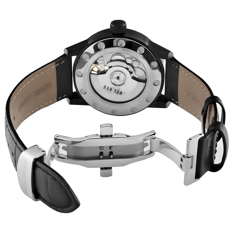 Leisure Automatic Authentic Leather Automatic Leather Watch бар - Ерлердің сағаттары - фото 4