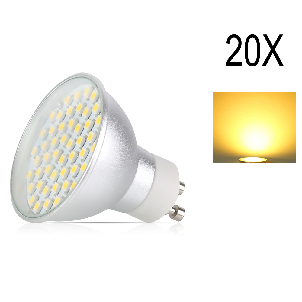 20x GU10 4.5 W LED Spot lumière SMD2835 AC195-240V en alliage d'aluminium lampe à ampoule LED projecteur économiseur d'énergie