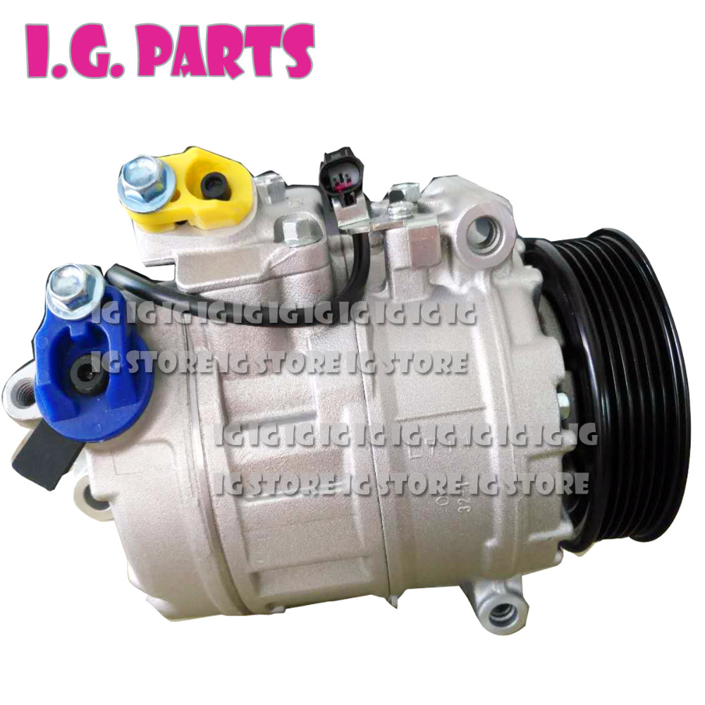 Air-conditioning Installation Auto Replacement Parts 7seu17c Ac A/c Air Conditioning Compressor Pv4 For Bmw 5-series E60 E61 520d M47 N47 4471902570 4471502840 64526950152 6950152