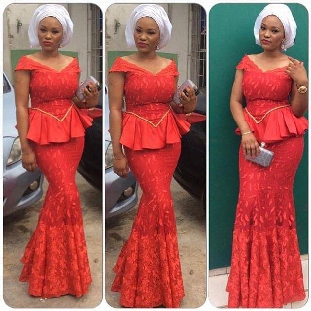 Latest Nigerian Lace Evening Dresses