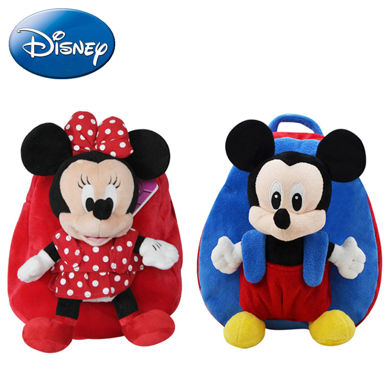 2018 Disney New Kid Backpack Minnie Mickey Mouse Bags Girl Cartoon Boy Baby Backpacks Kindergarten Child Student Bag|Plush Backpacks| |  - title=