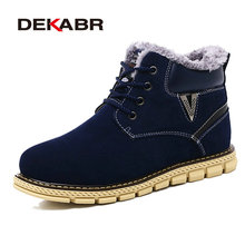 Dekabr/Мужские зимние ботинки Новый стиль Обувь ручной работы высокое качество супер теплые Мужская обувь Кружево на шнуровке повседневные ботильоны Большие размеры 38–45