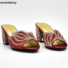 a4b31e623 Novos Sapatos de Grife Das Mulheres De Luxo 2018 Mulheres Nigerianas Casamento  Sapatos Decorados com Strass