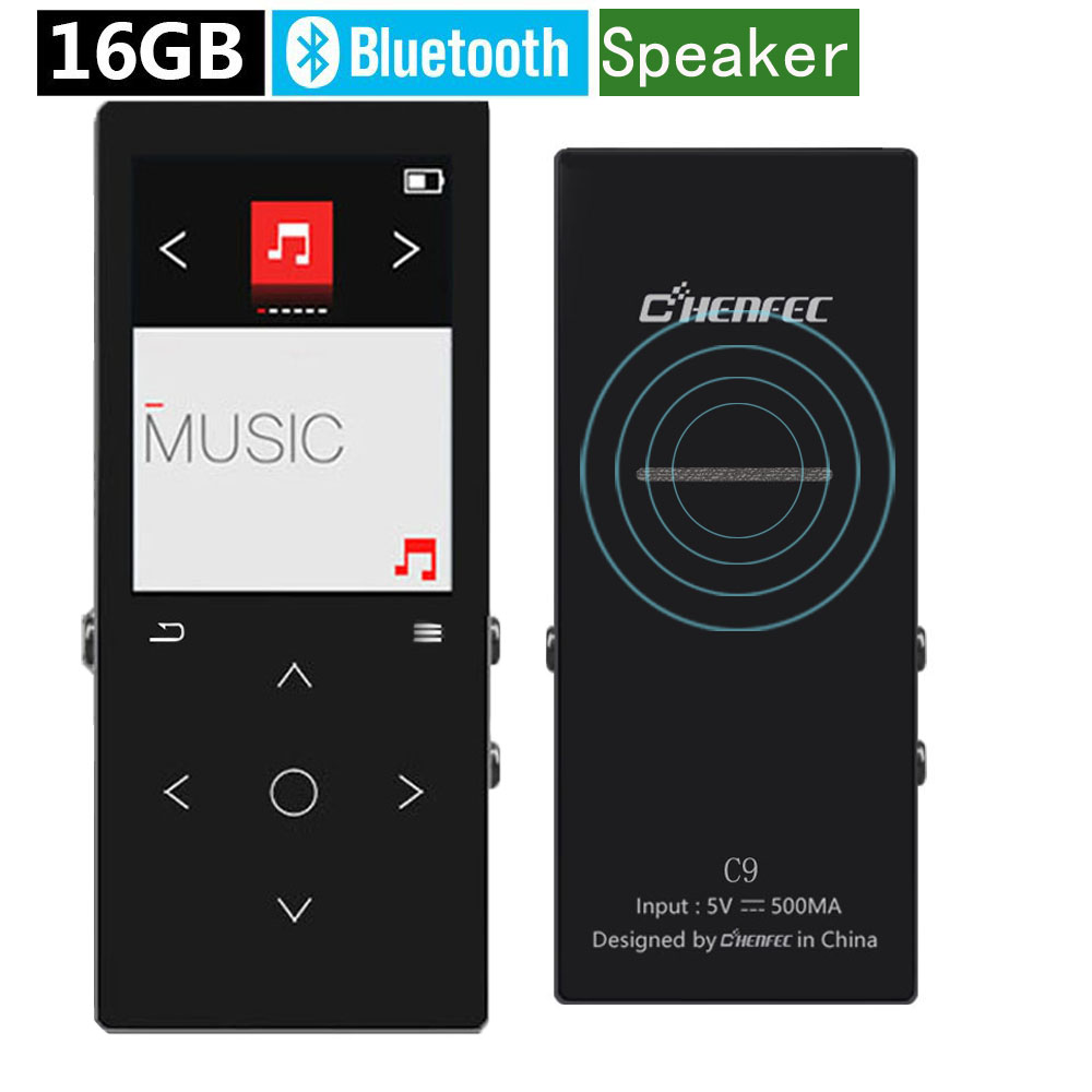 Mp3 player bluetooth with speaker 16gb hifi player lossless sound music player fm radio E-Book audio play Metal touch screen