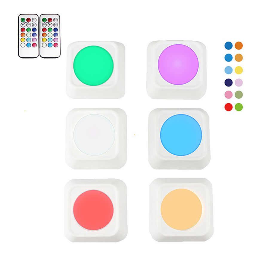 13 цветов RGBW светодиодный ночник беспроводной пульт дистанционного управления Сенсорный датчик под светодиодный свет шкафа Точечные светильники для кухни настенный светильник