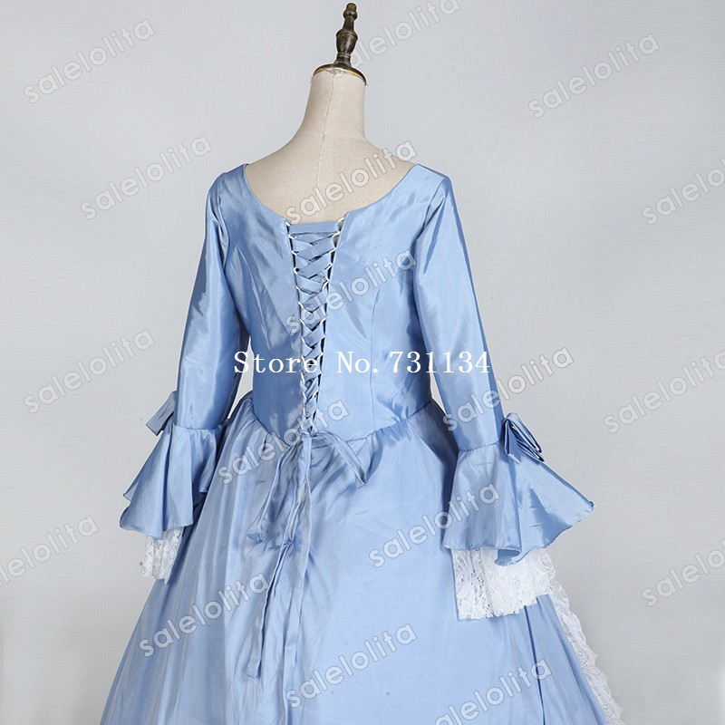 5e4862650472a Medieval Blue Masquerade Long Dress Princess Movie Gowns Upscale Gothic  Victorian Queen Historical Clothing-in Dresses from Women's Clothing on ...