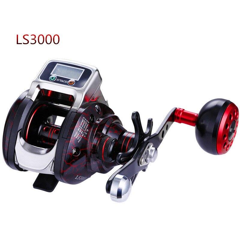 RG nouveau 13 + 1 roulement gauche/droite moulinet de pêche avec affichage numérique compteur de ligne de pêche moulinet de carpe d'eau salée 6.3: 1 défilement de coulée