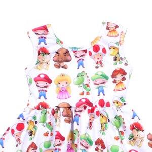 Image 3 - فستان صيفي بدون أكمام للفتيات ، فستان برسوم كرتونية للأطفال ، فستان برسوم دائرية ، فساتين حفلات للأميرات الصغيرة من الحرير والحليب الناعم للبيع بالجملة