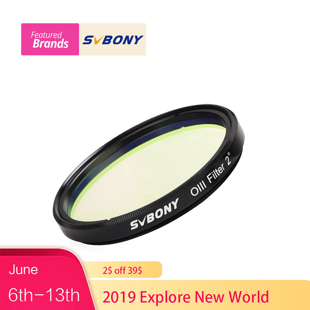 SVBONY 2 OIII Filter SV115 18nm Narrowband Cuts Light Pollution Filter for Astronomy Telescope Monocular O-III Filter F9186BSVBONY 2 OIII Filter SV115 18nm Narrowband Cuts Light Pollution Filter for Astronomy Telescope Monocular O-III Filter F9186B