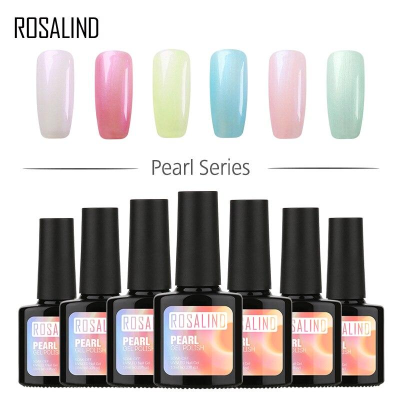 ROSALIND Gel 1S 10ML Newest Pearl Color Nail Gel Polish Top Base Coat Needed Nail Art Soak Off Dry With UV LED Lamp Gel Varnish