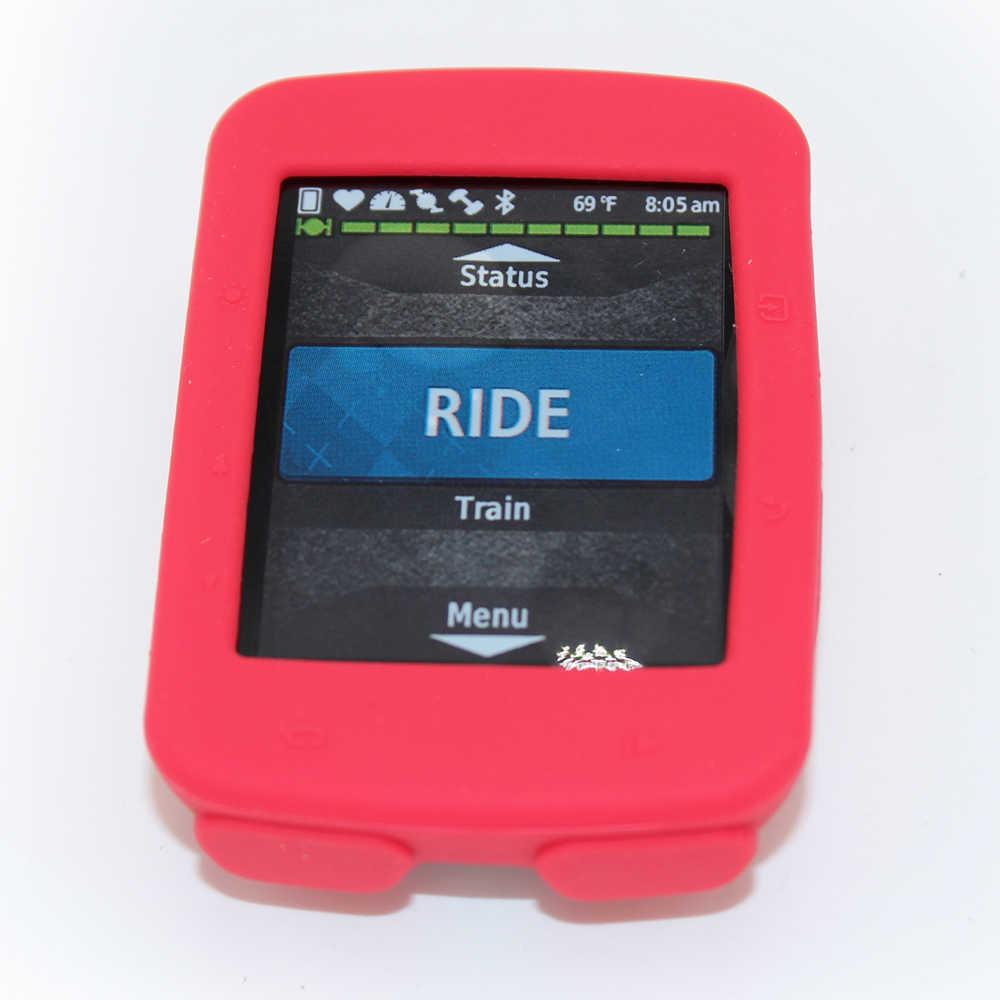 สำหรับGarmin Edge 520 820 1000 1030จักรยานยางซิลิโคนป้องกันกรณีคอมพิวเตอร์LCD Screen Protectorฟิล์มจัดส่งฟรี