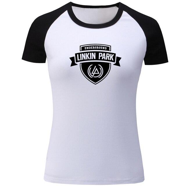 Linkin Park Underground Symbol Raglan T Shirt For Women Summer Short