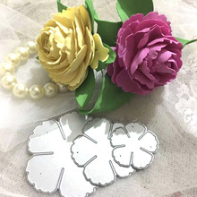 DUOFEN METAL CUTTING DIES 020352 peony blooms petals embossing stencil DIY Scrapbook Paper Album 2018 new