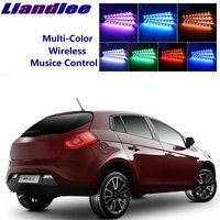 LiandLee Car Glow Interior Floor Decorative Atmosphere Seats Accent Ambient Neon light For Fiat Bravo 2007~2016