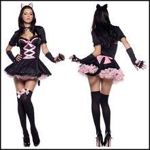 Соблазнительные костюмы «Зебра» с кошкой для девочек соблазнительный