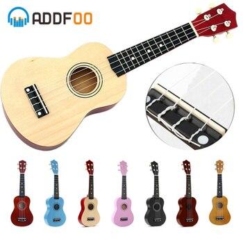 ADDFOO Ukulele 21 inch Ukelele Soprano 4 Strings Hawaiian Spruce Basswood Guitar Uke String Pick Stringed