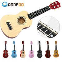 ADDFOO Ukulele 21 inch Ukelele Soprano 4 Strings Hawaiian Spruce Basswood Guitar Uke + String + Pick Stringed Instrument