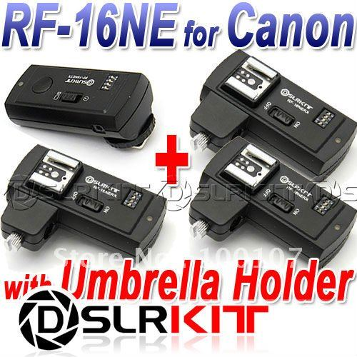 RF 16NE Wireless Flash Trigger for CANON with 3 Receivers