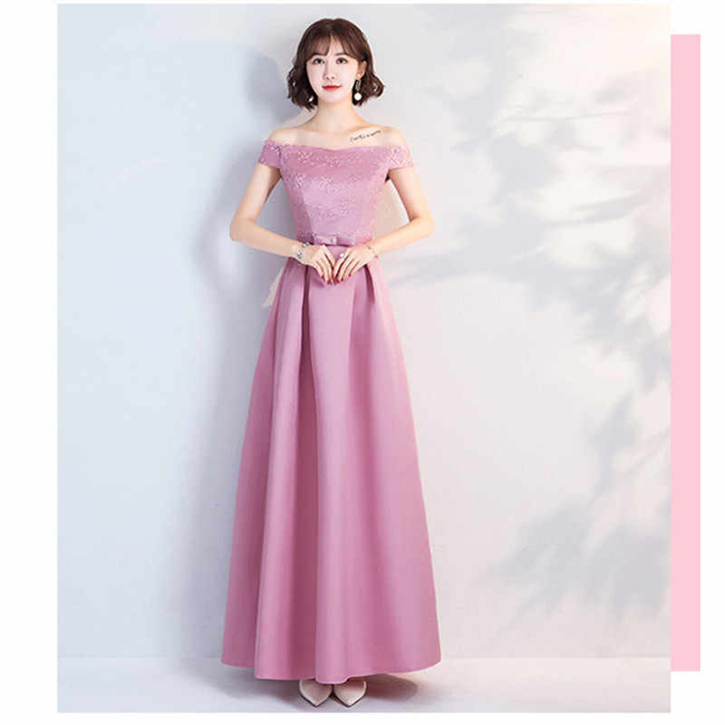 d1b61bc2c8f ... YWXN5559V Pale Mauve Long medium and short V-neck Lace up Evening Dresses  2019 ...