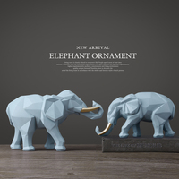 Минималистичный стиль, геометрия слон украшения гостиной ТВ Шкаф Кабинет творческие украшения свадебные подарки WL5101118
