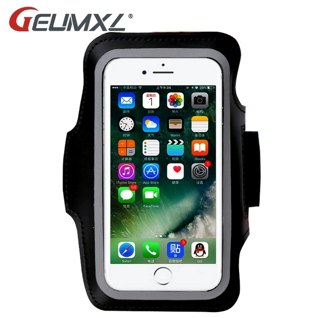 sale retailer 9c701 4af08 US $3.5 |GEUMXL Waterproof Sports Running Armband Leather Case For Apple  iPhone X 8 7/6/6S Cell Mobile Phone Arm Bag Band Fashion Holder-in Armbands  ...