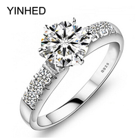 Have Certificate Of Identify 100 925 Sterling Silver Wedding Rings For Women Luxury 0 75 Carat