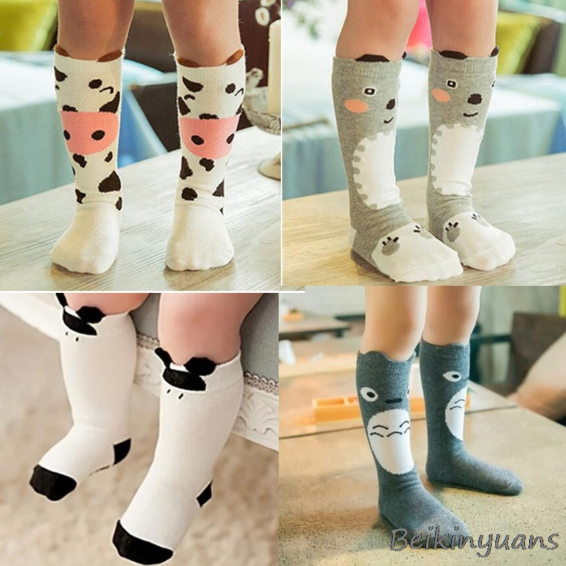 Style New Knee High Socks Pattern Toddlers Kids Girls For Age 1-4 Years
