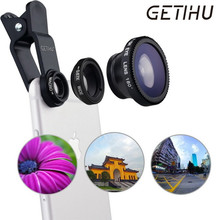 Universal Fish Eye 3in1 + Clip Fisheye Smartphone Camera Lens Wide Angle Macro Smart Mobile Phone Lents For iPhone 6 7 Samsung