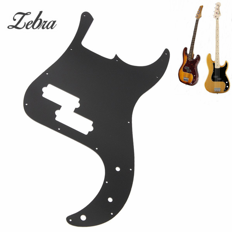 Zebra Black Mirror Bass Electric Guitar Pickguard PB Scratch Plate For Ukulele Musical Stringed Instruments Parts Accessories