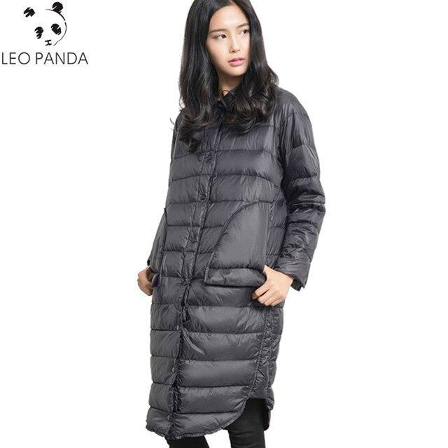 2017 Новинка зимы Для Женщин Белые парки с гусиным пухом женские Пух куртка дамы ватные пальто теплые хлопковые пальто мода кнопку Мужские парки WQ330