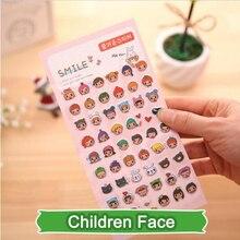 SST 1 Sheet Children Face Cartoon Cute Kawaii 3D Bubble Sticker Scrapbooking Creative Stationery Kindergarten Gift