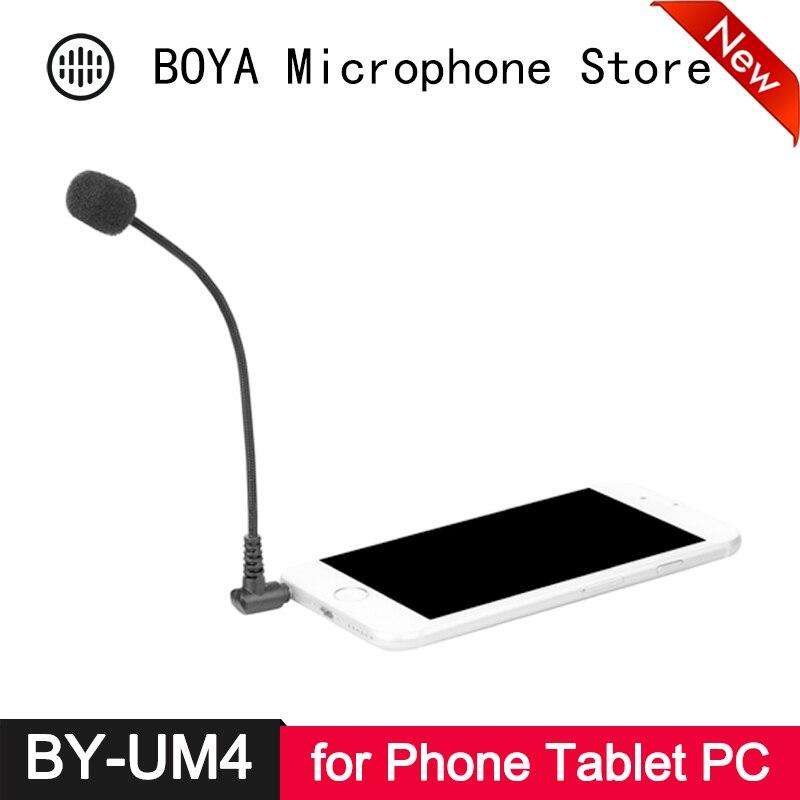 BOYA BY-UM4 3.5mm Mini Flexible Condenser Microphone For IPhone 6s 6 Plus 5s Smartphone Laptop PC Skype WhasApp Viber Line ICQ