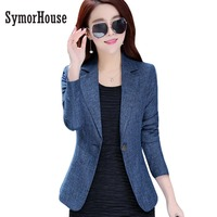 Women Blazers And Jackets Suit Ladies Long Sleeve Work Wear OL Blazer Plus Size Casual Female