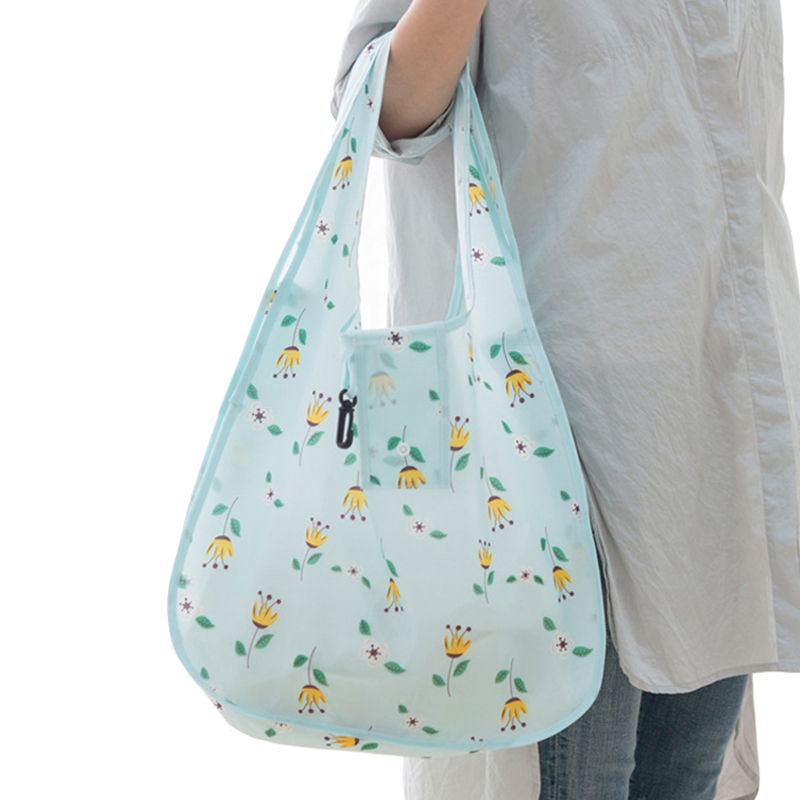 Reusable Folding ECO Shopping Bag Women Collapsible Travel Grocery Pouch Portable Durable Tote Recycle Handbag Home Storage Bag