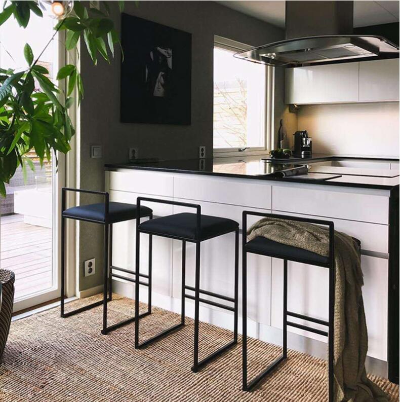 Tremendous Nordic Bar Stool Modern Minimalist Bar Chair Fashion Front Cjindustries Chair Design For Home Cjindustriesco