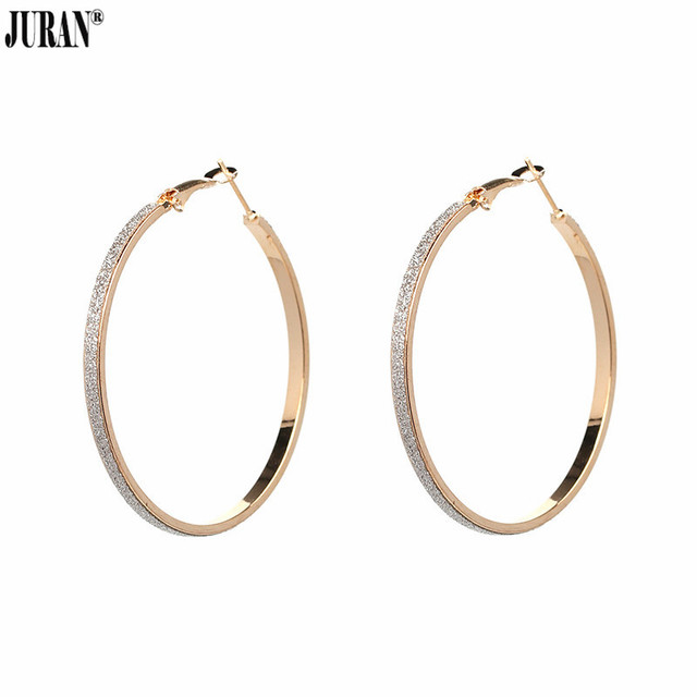 Aliexpress Buy JURAN Trend Gold Color Hoop Earrings For