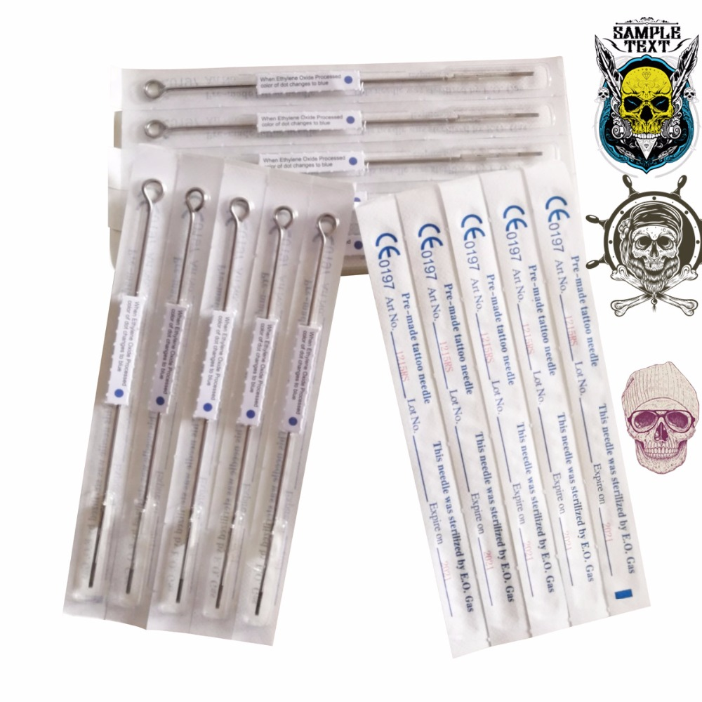<font><b>5</b></font> pcs Tattoo Needles 1/3/<font><b>5</b></font>/7/<font><b>9</b></font>/<font><b>11</b></font>/13RL Assorted Sterilized Tattoo Machine Needles Free Shipping CE high quality image