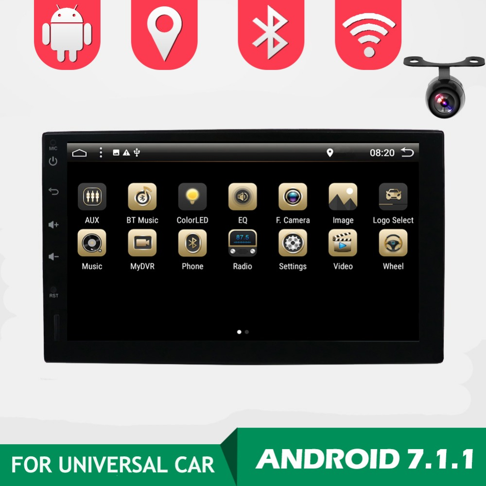 double 2 Din Android 7.1 Universal Car Radio GPS Navigation Bluetooth 2din Car Audio Stereo FM USB Car Multimedia No DVD Player car dvd gps android 8 1 player 2din radio universal wifi gps navigation audio for skoda octavia fabia rapid yeti superb vw seat
