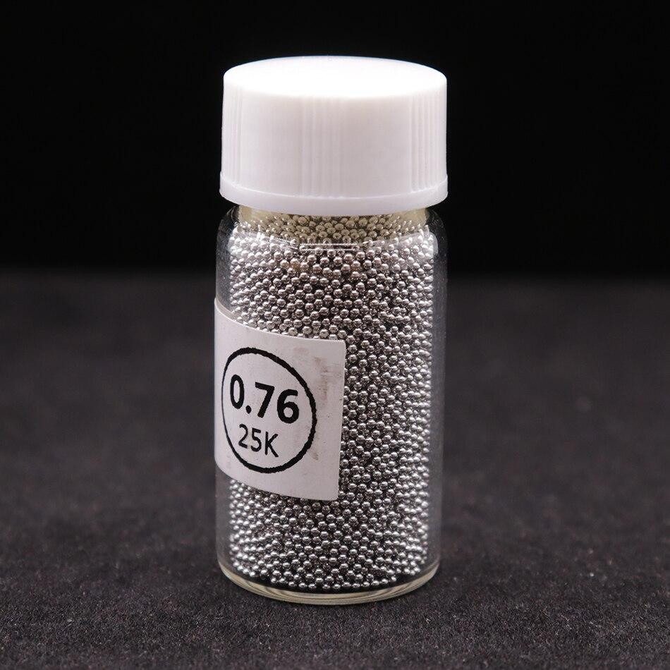 1 бутылка BGA шариков(0,25 0,3 0,35 0,4 0,45 0,5 0,55 0,6 0,65 0,76) BGA шариков с этилированным покрытием для ремонта BGA