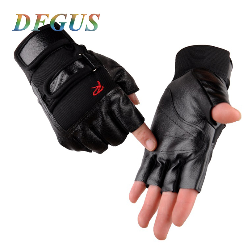 High Quality Men Exercise Training Sport Fitness Sports Gym Gloves Men Half Finger PU Leather Mens Gloves For Tactical