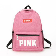 Girl Fashion School Backpacks Summer Holiday Beach Letter Bag Zipper Shoulder Oxford Backpack Tote Love Pink Bags Bookbag