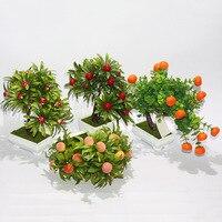 decorative auspicious festive potted fruit plants simulation table decoration simulation of fruit bonsai sales quality