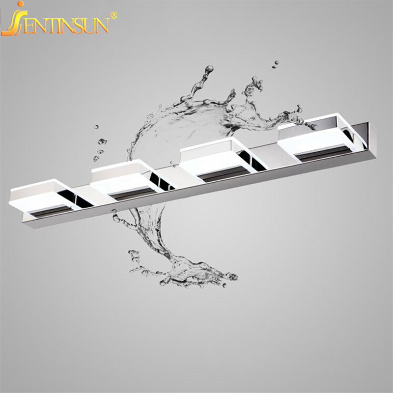 68CM 12W Modern Acrylic Wall Lamp LED Bathroom Mirror Light Waterproof Fixtures Stainless Steel Mounted Sconce Lighting for bed luxury modern white acrylic 12w led bathroom wall lamp mirror front fashion wall light showroom washroom wall lamp