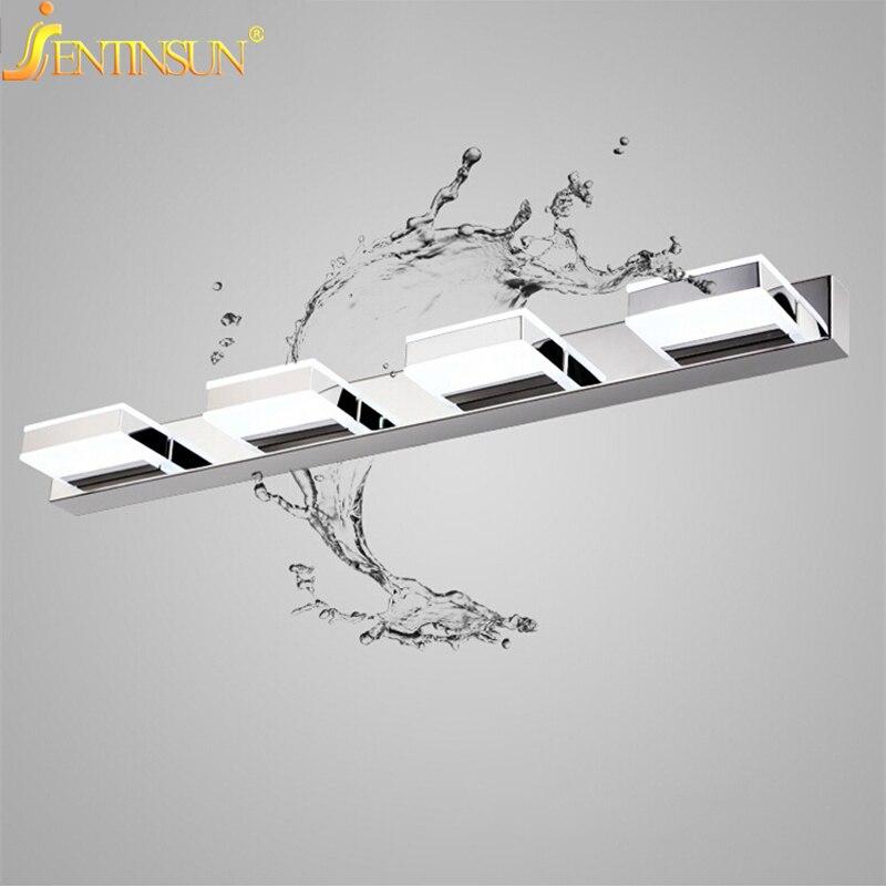 ФОТО Modern 68CM 12W 4 Heads LED Acrylic Wall Lamp Bathroom Mirror Wall Light Waterproof Stainless Wall Sconce Cold White