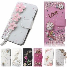 Unique&Beautiful Phone Case For BlackBerry Q20/Classic Q20,Fashion Crystal Diamond PU Leather 3D Handmade Wallet Phone Cover
