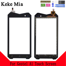 Keke Mia 4.5 Mobile Phone Front Touch Glass For Geotel A1 3G Screen Digitizer Panel Lens Sensor Touchpad