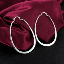 925 Sterling Silver Earrings Plating  Long U  Ear Earrings Girls Fashion Earring Anti-Allergic Gift Hot sale High Quality